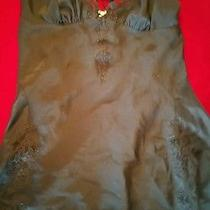 Betsey Johnson L Print Babydoll Nightie Large Euc   Photo