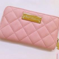 Betsey Johnson Ladies Bow Party Blush Zip Around Wallet New Photo