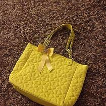 Betsey Johnson Large Yellow Tote Photo