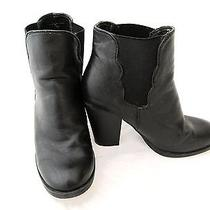 Betsey Johnson Leather 'Nattalie' Ankle Booties Shoes Boots Black Size 7 Photo
