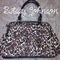Betsey Johnson Leopard Diaper Bag  Photo