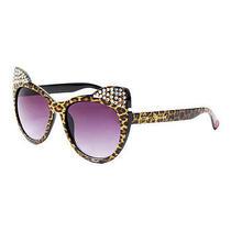 Betsey Johnson Leopard Kitten Ears Sunglasses  Nwt Photo
