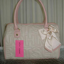 Betsey Johnson Logo Satchel Blush Bone Pink Handbag Purse Shoulder Bag Nwt Photo