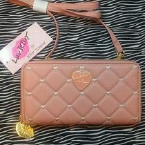 Betsey Johnson Luv Betsey Wallet on a String Clutch- Blush Pink- Limited Edition Photo