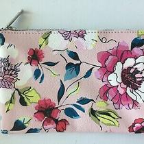 Betsey Johnson Make Up Cosmetic Bag Clutch Pouch Pink Roses Floral New Photo