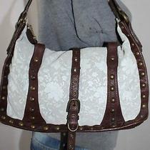 Betsey Johnson Med Brown Leather Shoulder Hobo Tote Satchel Slouch Purse Bag Photo