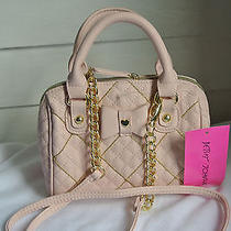 Betsey Johnson Mini Barrel Speedy Shot Beads Cross Body Hand Bag  Blush Br22750 Photo