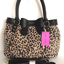 Betsey Johnson Natural Spectator Solid Bow Tied Satchel Handbag Nwt Photo