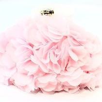 Betsey Johnson New Pink Blush Satin Fluff Gold Tone Shoulder Bag Purse 88- 058 Photo