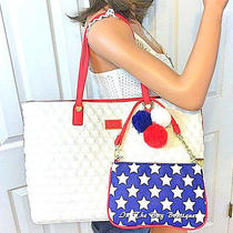 Betsey Johnson Patriotic All That Jazz Tote Bag & Wristlet 2 Piece Set Nwt Photo