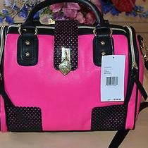 Betsey Johnson Perforated Blush Heart Lock Satchel Bag Nwt  Photo