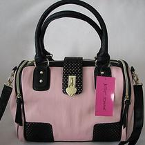 Betsey Johnson Perforated Pink Blush Heart Lock Satchel/crossbody Bagnwt Photo