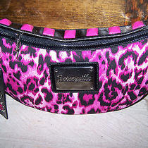 Betsey Johnson Pink Cheetah Small Hobo Purse Handbag Nwt Rare Photo