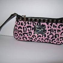 Betsey Johnson Pink Leopard Studded Wristlet Photo