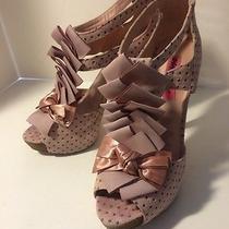 Betsey Johnson Pink Suede Heels 9 M Photo