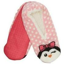 Betsey Johnson Pink & White Slipper Socks Faux Shearling Lining New With Tag  Photo
