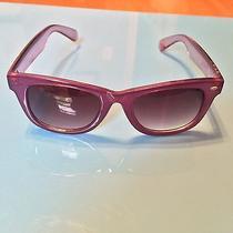 Betsey Johnson Plastic Wayfarer Sunglasses Purple Retro Photo