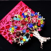 Betsey Johnson Pretty Fashion Jewel Female Crystal the World Tree Brooch Pin Photo