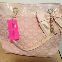Betsey Johnson Quilted Heart Blush Color Tote / Shopper / Handbag / Purse Photo