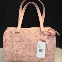 Betsey Johnson Racey Lacy Blush Satchel  Br21180 Nwt Msrp118 Photo