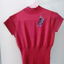 Betsey Johnson Red Holiday Blouse Size 2 Xs Extra Small Photo