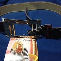 Betsey Johnson Reversible Belt Brown Gold Buckle Small/medium Nwt Photo
