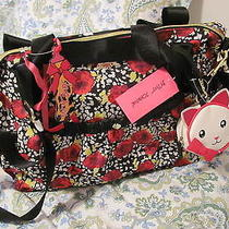 Betsey Johnson Rouched Rose Diaper Bag  Photo