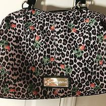 Betsey Johnson Satchel Blush (Cheetah With Floral). Nwt  Photo