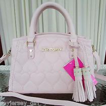 Betsey Johnson Satchel Bowler Crossbody Bag Handbag Blush Pink Nwt Photo
