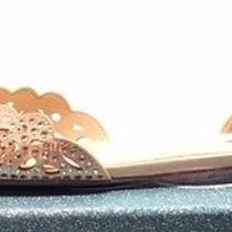 Betsey Johnson Sb-Lucy Flats Women Shoes Size Us 8.5 Blush Satin Photo