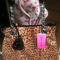 Betsey Johnson Sequined Cheetah  Animal Print Brown/black Handbag Nwt Photo