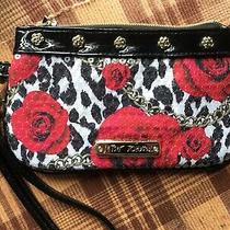 Betsey Johnson Sequinned Floral Rose Zippered Clutch Wristlet Photo