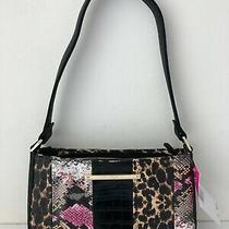 Betsey Johnson Shoulder Bag Black Snack Animal Print Multi Handbag Clutch Photo