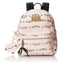 Betsey Johnson Signature Studded Backpack (Blush) Photo