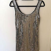 Betsey Johnson Silver Sequin Dress Size 4 Photo