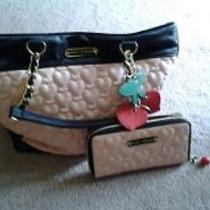 Betsey Johnson Tote With Matching Wallet Photo