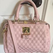 Betsey Johnson Triple Compartment Quilted Heart Blush Satchel Photo