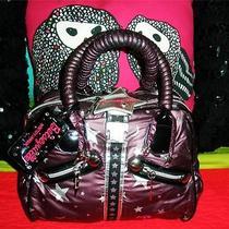Betsey Johnson Vintage Handbag Galaxy Girl Lips Astrology Star Bolt Betseyville Photo