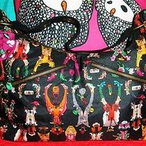 Betsey Johnson Vintage Handbag Paper Dolls Cartoon Black Corset Tie Betseyville Photo
