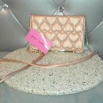 Betsey Johnson Wallet on a String- Be Mine- Rose Gold Nwt Free Shipping Photo