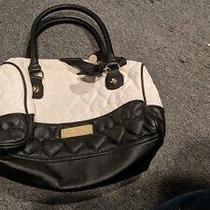 Betsey Johnson Women's Black and White Handbag W Bow Adorable Photo