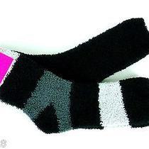 Betsey Johnson Women's Slipper Socks 2 Pairs Sz 9-11 Black/gray Photo