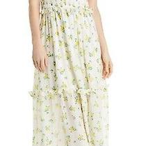 Betsey Johnson Womens Dress Classic Yellow Size 12 Maxi Floral Print 128 011 Photo