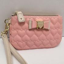 Betsey Johnson Wristlet Blush  Be My Honey Clutch Cell Phone Holder  Photo