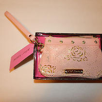 Betsey Johnson Wristlet Purse Wallet Racey Lacey Blush Nwt Pink Photo