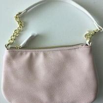 Betsey Johnson Wristlet Wallet Clutch Blush Pink Bone Cosmetic Bag E Photo