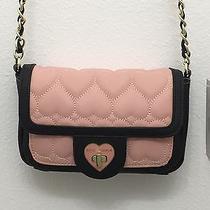 Betsey Johnson Xbody Crossbody Handbag Be Mine Blush Photo