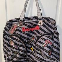 Betseyville Betsey Johnson Large Huge Duffel Mutiple Compartments Beauty Patches Photo