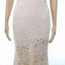 Betsy & Adam Blush Pink Women's Size 8 Gown Floral Lace Dress 287- 458 Photo