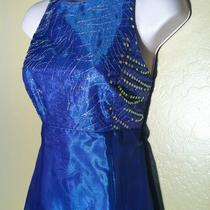 Betsy & Adam by Jaslene Size 10 Prom Formal Dress Wedding Sequin Shimmer Gown Photo